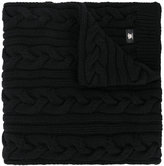 Versace chunky cable knit scarf