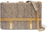 Alexander McQueen Cage Elaphe Shoulder Bag - Beige