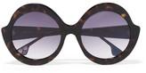 Alice + Olivia Alice Olivia - Stacey Round-frame Acetate Sunglasses - Tortoiseshell
