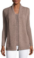 Neiman Marcus Tape-Yarn Open Cardigan