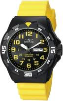 Invicta Men's 'Coalition Forces' Quartz Stainless Steel and Silicone Casual Watch, Color:Yellow (Model: 25328)