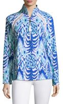 Lilly Pulitzer Skipper Popover Long Sleeve Sweater