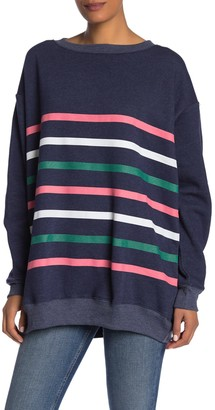 Wildfox Couture Roadtrip Multi-Stripe Sweatshirt