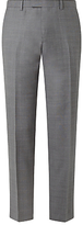 John Lewis Woven In Italy Super 120s Wool Check Tailored Suit Trousers, Grey