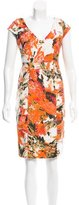 Erdem Abstract Print V-Neck Dress