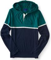 Long Sleeve Colorblock Hooded Henley