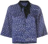 Maki Oh - beaded collar shirt - women - Silk - S