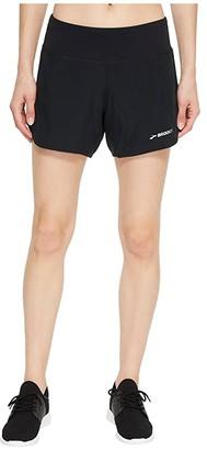 Brooks Chaser 5 Shorts (Black 1) Women's Shorts