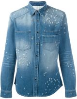 Givenchy destroyed denim shirt - men - Cotton/Polyester/Brass - L