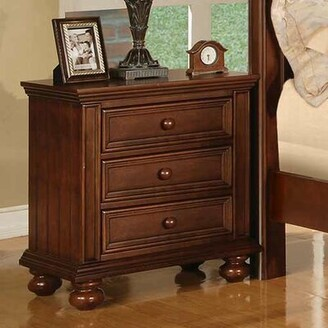 Beachcrest Home Marhill 3 Drawer Nightstand Color: Chocolate