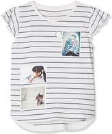 Tom Tailor Kids Girl's Striped Tee with Photo Print T-Shirt