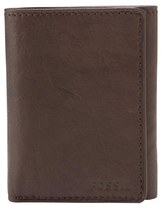 Fossil Men's 'Ingram' Leather Trifold Wallet - Brown