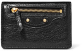 Balenciaga Textured-leather Cardholder - Black