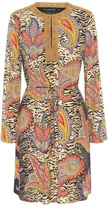 Etro Printed tie-waist dress