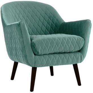 Darcy And Duke Club Chair Aqua With Black Legs