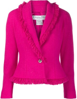 Christian Dior Pre-Owned fringed blazer