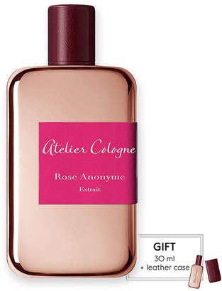 Atelier Cologne Rose Anonyme Extrait Cologne Absolue, 200 mL with Personalized Travel Spray, 30 mL