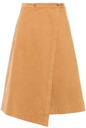 Acne Studios Washed Cotton-blend Twill Midi Wrap Skirt