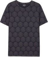 A.p.c. Wimbledon Navy Printed Cotton T-shirt