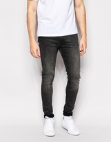Weekday Jeans Form Super Stretch Skinny Fit Gray Moon