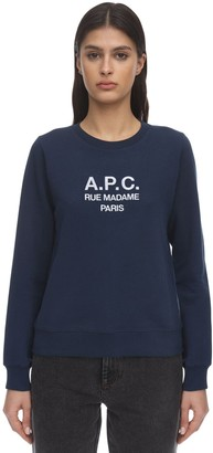 A.P.C. Embroidered Cotton Sweatshirt