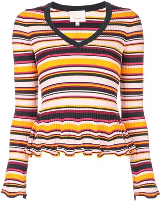 Cinq à Sept striped Zana ribbed jumper