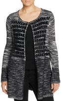 T Tahari Sima Textured Check Cardigan