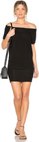 Riller & Fount Dwight Off Shoulder Tunic Dress in Black. - size 0 / XS (also in 1 / S,2 / M,3 / L)