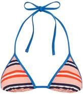 Diane von Furstenberg Stripe-print halterneck bikini top