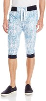 Southpole Men's Jogger Capri Pants All Over Acid Washed Patterns