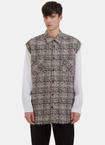 Men's Oversized Tweed Shirt In Brown And White €620