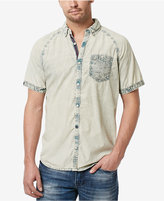 Buffalo David Bitton Men's Situx Stripe Graphic-Print Cotton Pocket Shirt