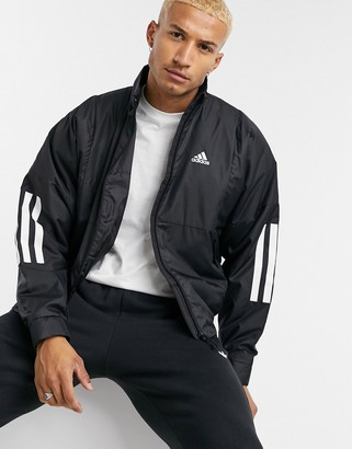 adidas Outdoors bomber jacket in black