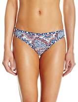 Lucky Brand Women's Hailey Paisley Reversible Hipster Bikini Bottom