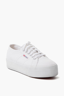 Superga Acot White Platform Sneakers