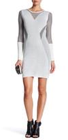 Rachel Roy Stripe Sheer Linear Sweater Dress