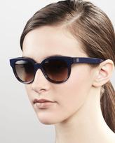 Balenciaga Enamel Sunglasses, Blue Havana
