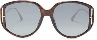 Christian Dior Diordirection Oversized Round Acetate Sunglasses - Tortoiseshell