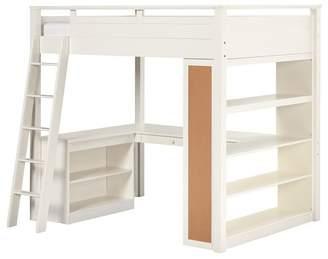 Pottery Barn Teen Sleep + Study Loft , Full, Simply White