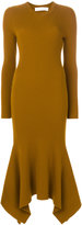 Victoria Beckham draped hem ribbed sweater dress