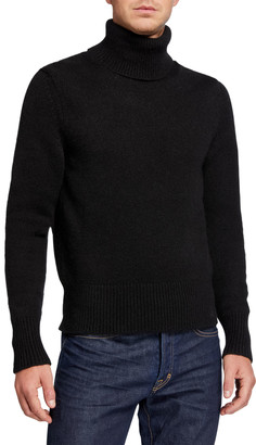 Tom Ford Men's Solid Cashmere-Blend Turtleneck Sweater
