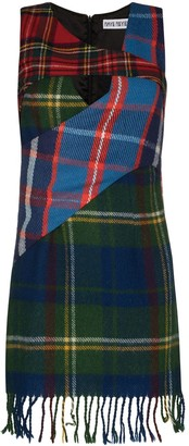 Rave Review Kira tartan check panelled mini dress
