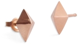 Marion Cage Lis Stud Earrings - Rose Gold