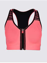 M&S Collection Extra High Impact Zip Front Sports Bra A-G