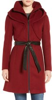 Soia & Kyo Women's 'Arya' Hooded Wool Blend Coat With Belt