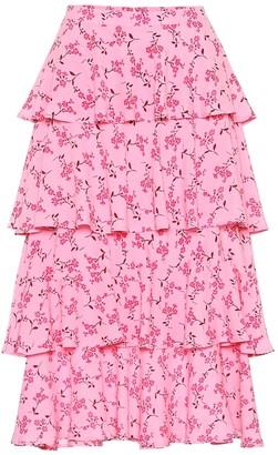 Baum und Pferdgarten Exclusive to Mytheresa Scarlet floral midi skirt