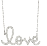 Sydney Evan Large Love Necklace - White Gold