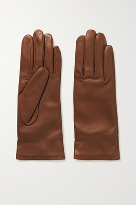 Gabriela Hearst Embroidered Leather Gloves - Tan