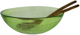 French Home Recycled Glass Apple Green Salad Set
