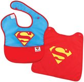 Bumkins DC Comics SuperBib with Cape - Polyester - Superman